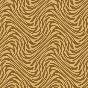 Art Nouveau feather swirl - caramel