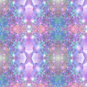 Pink and Blue Bubble Fractal