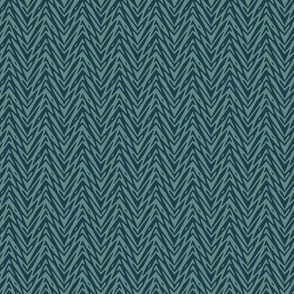 feather herringbone in slate and navy