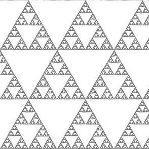 Sierpinski Triangle - black and white