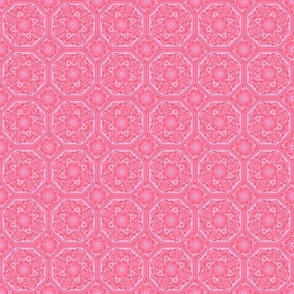 Persian Tile ~ Pink & Vermilion ~ Doll Scale