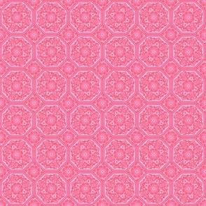 Persian Tile ~ Pink & Vermilion ~ Doll Scale