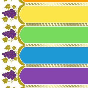Rainbow Dash Gala Inspired Grecian Grape