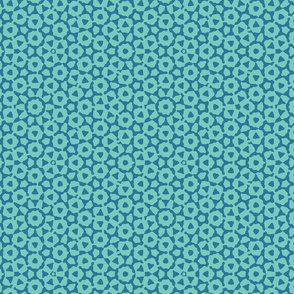 quasicrystal in teal blues