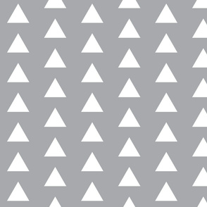 Grey with White Triangles - Grey Triangles