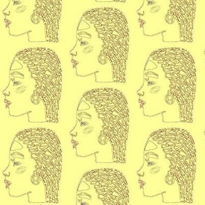 African American Woman-Yellow-262