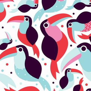 Brazillian tucan bird illustration pattern