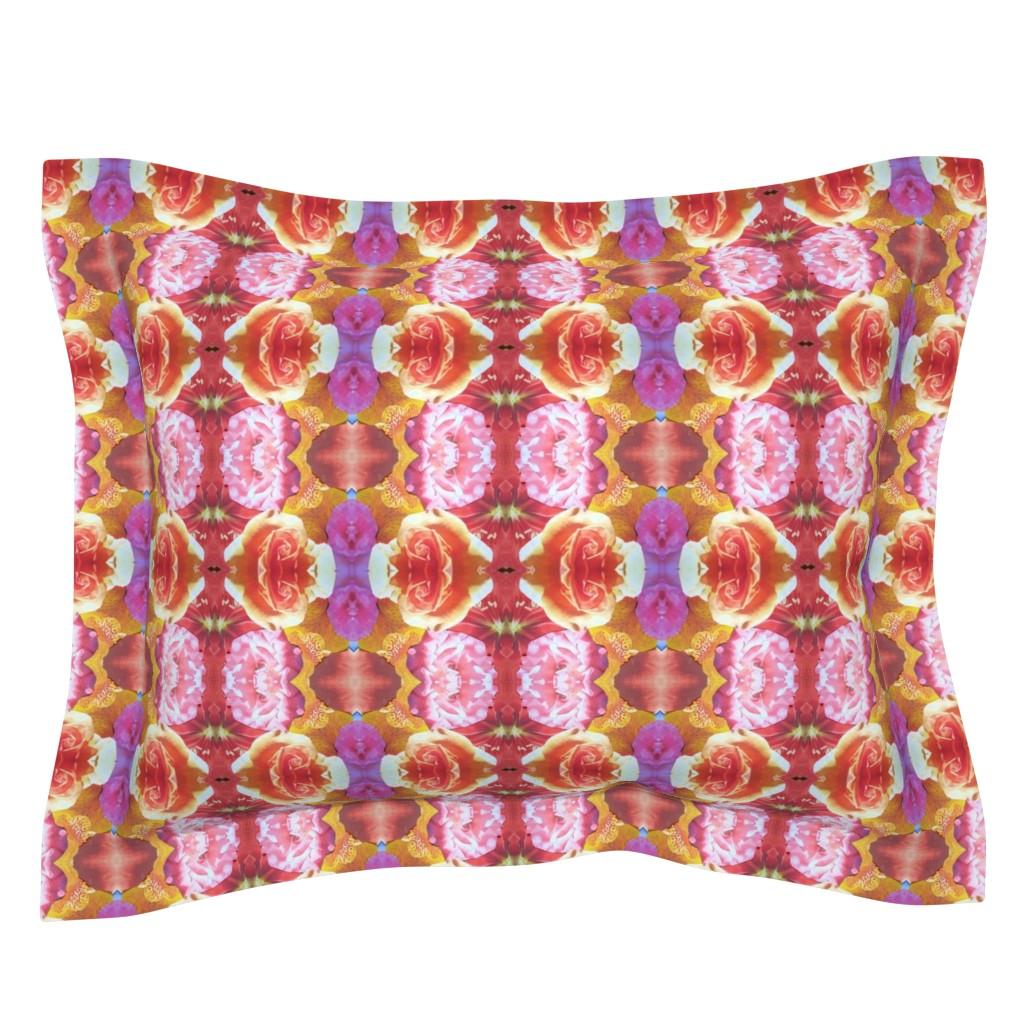 Sebright Pillow Sham featuring flower_final_10 by susanprice