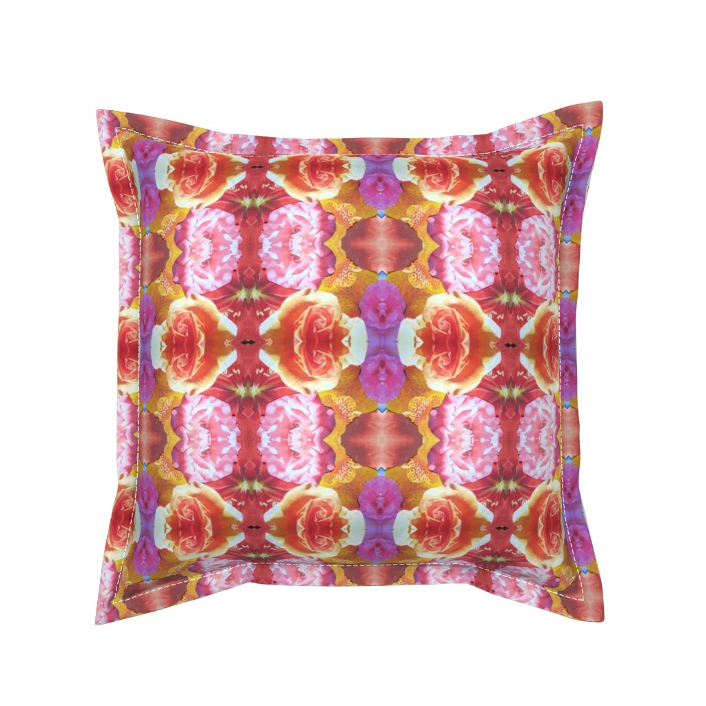 Serama Throw Pillow featuring flower_final_10 by susanprice