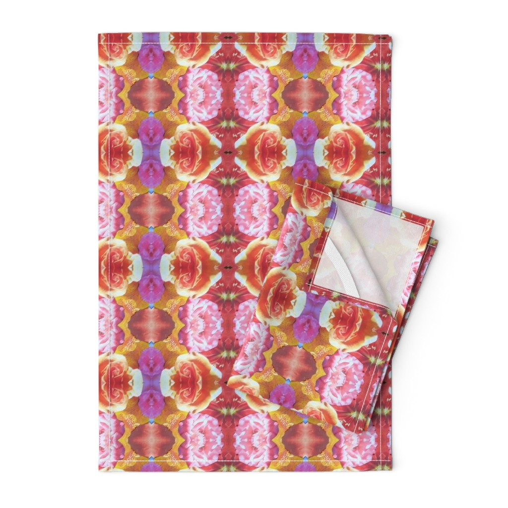 Orpington Tea Towels featuring flower_final_10 by susanprice