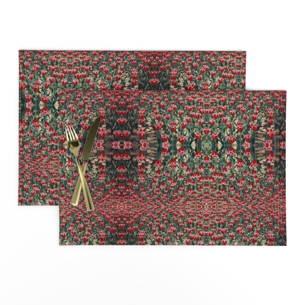 Lamona Cloth Placemats featuring tulips by susanprice