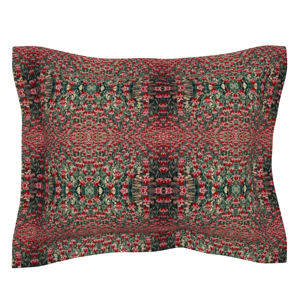 Sebright Pillow Sham featuring tulips by susanprice