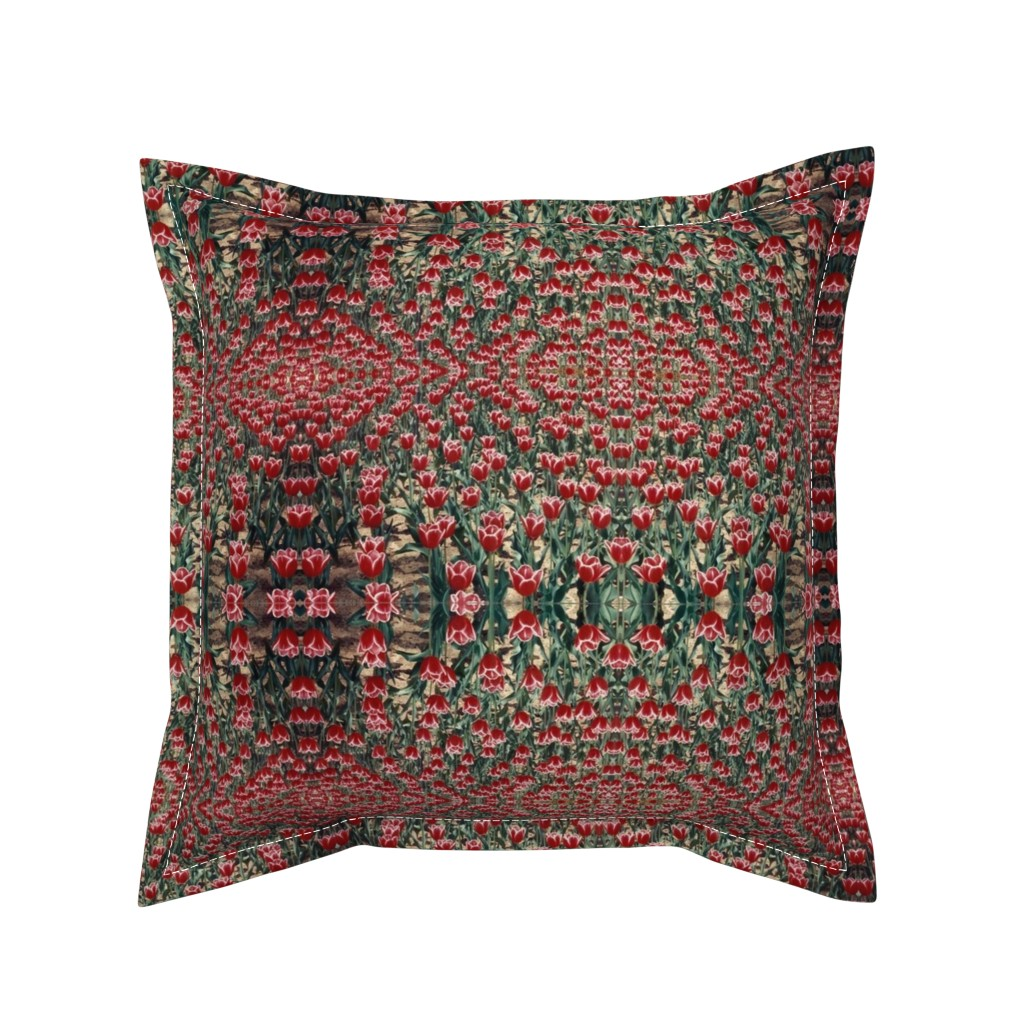 Serama Throw Pillow featuring tulips by susanprice