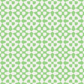 diamond checker in fifties green and pale grey