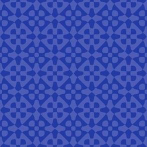diamond checker in morning blue