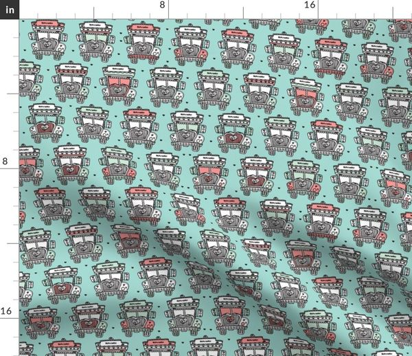 8655a3b0a89 Fun quirky indian truck - Spoonflower