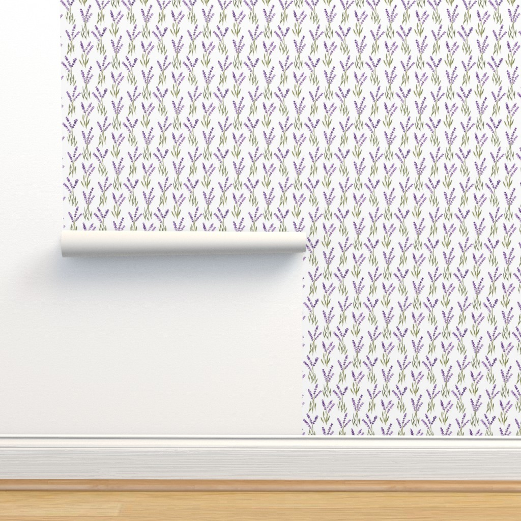 Isobar Durable Wallpaper featuring lavender bunches by jillbyers