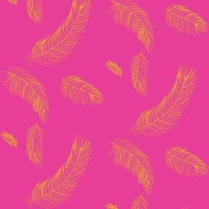 feathers-raspberry lemon