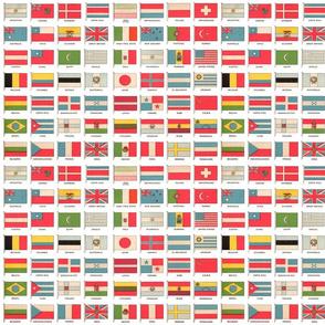 Vintage World Flags