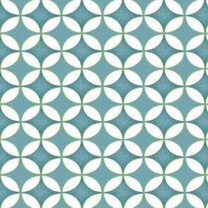 Retro Blue Watercolor Circles