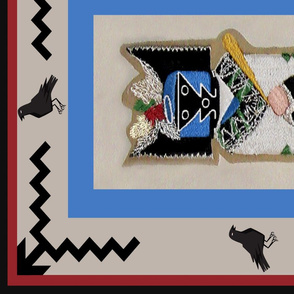 Crow Mother Quilt panel