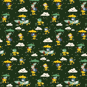 I'ts raining cats and dogs... in wellies!