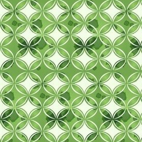 Retro Green Watercolor Circles