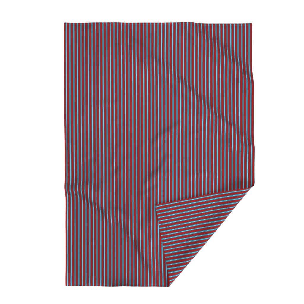 Lakenvelder Throw Blanket featuring Red Buttons Stripes by jozanehouse