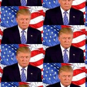 President Donald Trump 2020 American Flag