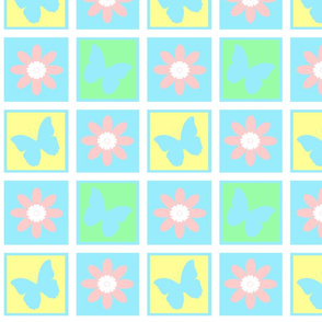 Shabby Quilt Baby Blue
