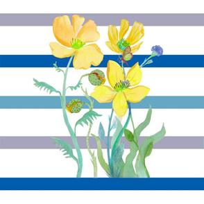 Butterflies & Stripes Yellow