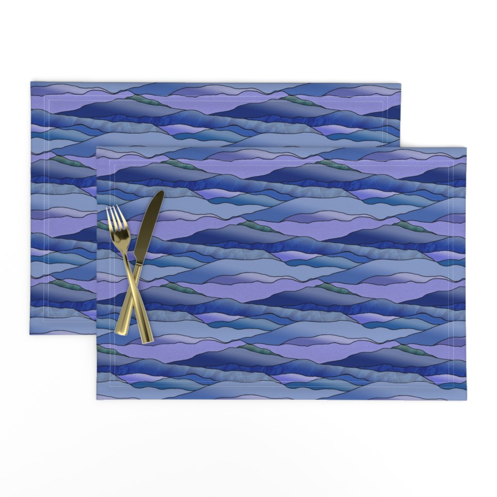 Lamona Cloth Placemats featuring Another Cold Night in the Desert. by rhondadesigns