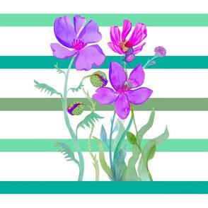 Butterflies & Stripes Purple