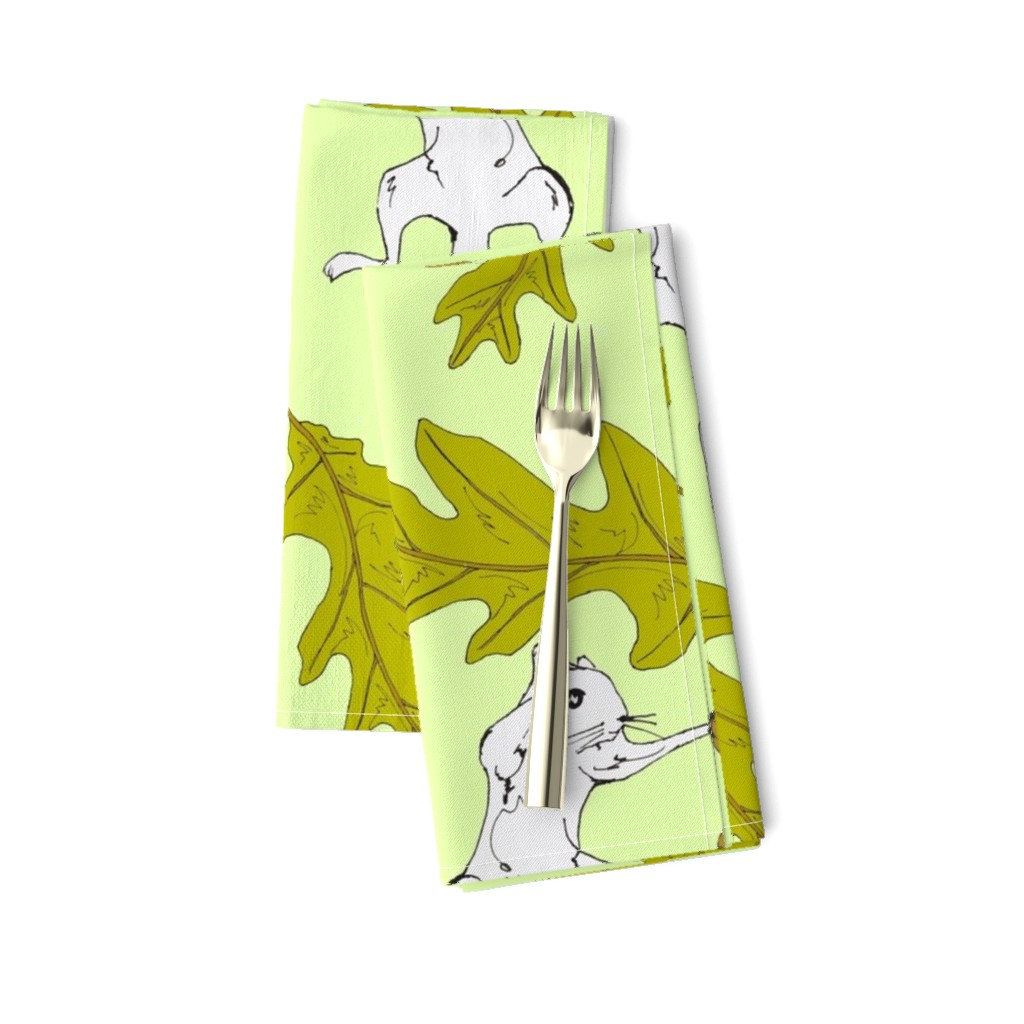 Amarela Dinner Napkins featuring Squirrel Fight Damask Full Color by sparegus