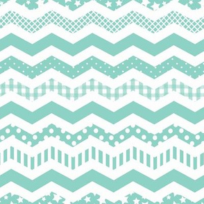 Mint Chevron with a funky twist