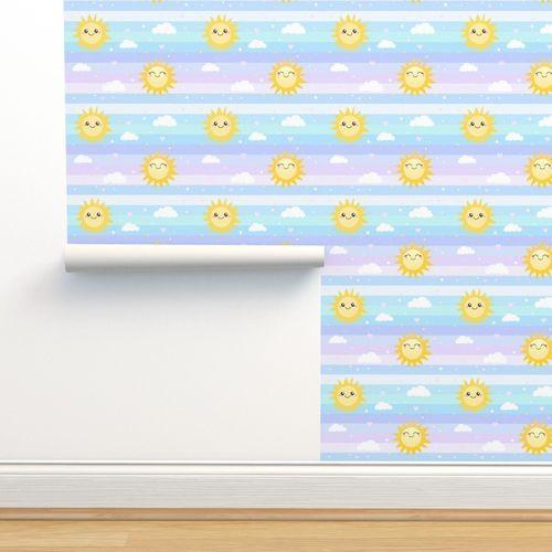 Wallpaper Unicorn Splash Pastel Rainbow Confetti