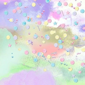 Unicorn splash - pastel rainbow & confetti