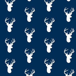White Deer on Navy
