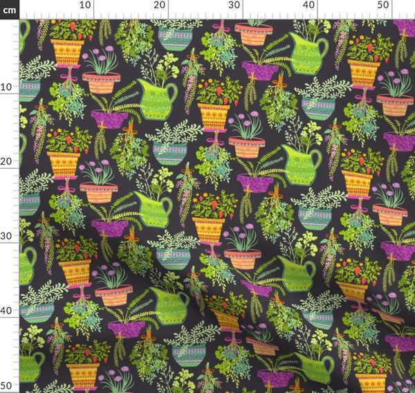 Organic Fruitation Herbs Gray Spoonflower