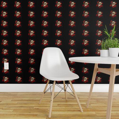 Wallpaper Skull And Roses 2