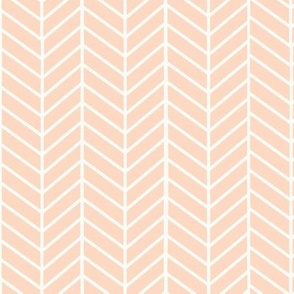 Blush Peach Arrow Feather pattern