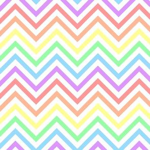 Pastel Rainbow Chevrons