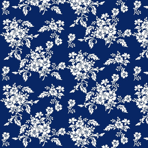 Genevieve Damask Floral in ink