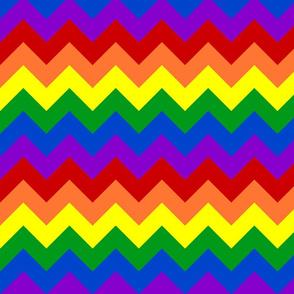 Rainbow Chevrons Large