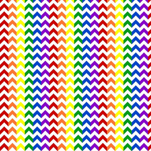 Rainbow Chevrons Multi-Colored