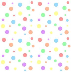 Pastel Rainbow Dots - Small