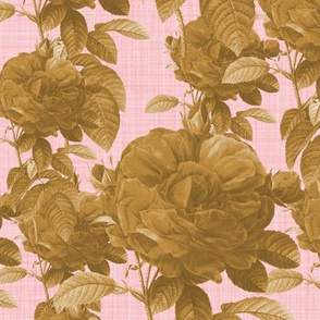 Redoute' Rose ~ Riot of Gilt ~ Dauphine ~ Linen