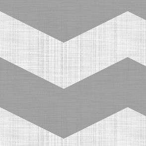 Linen Luxe ~ Chevrons ~ Modern Cottage ~ Pewter and White