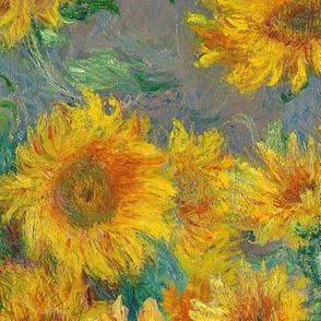 monet's sunflowers (jumbo)