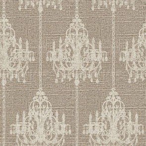 Chandelier Pinstripe in Cream on Linen